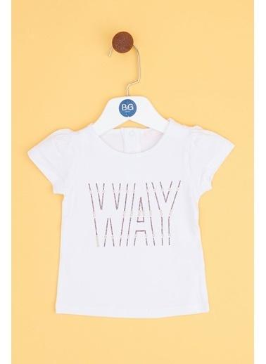 BG Baby Kız Bebek Beyaz T-Shirt 19SS0BG2526 Beyaz